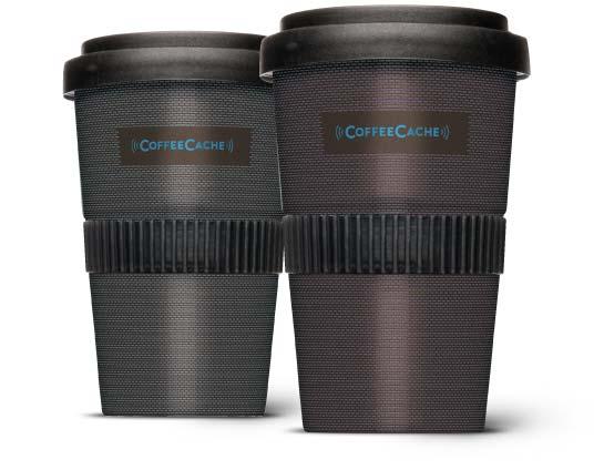 Mit CoffeeCache wird der Coffee2Go zum digitalen Kaffeebecher
