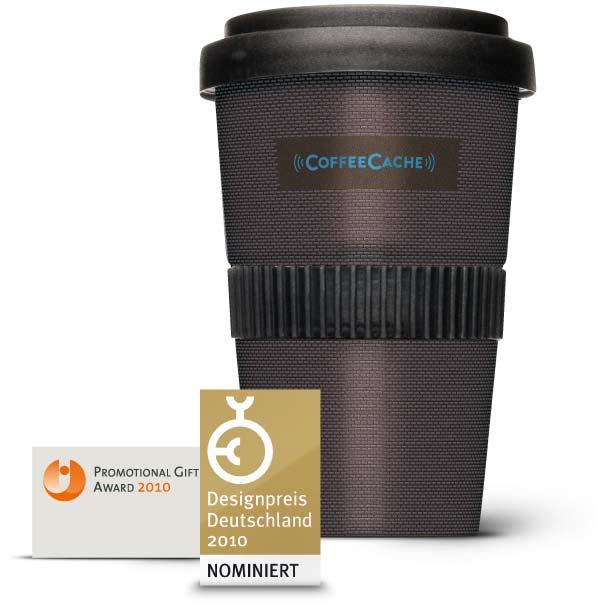 Coffee Cache, der Kaffeebecher mit RFID Chip