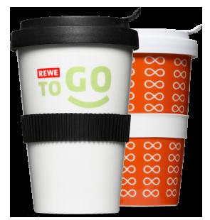 Logo Druck auf Coffee2Go aus Porzellan