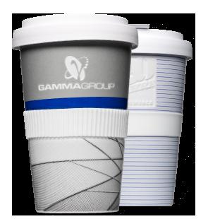 Logo als Gravur auf Kaffee-to-Go Becher aus Porzellan