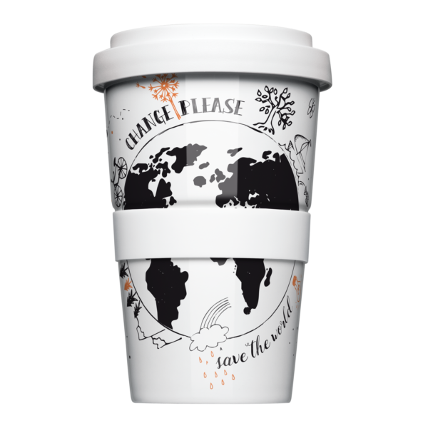 Mehrweg Coffee-to-Go Becher in Illustration »Change Please«