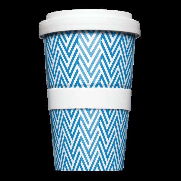 Mehrweg Coffee-to-Go Becher mit geometrischem Muster