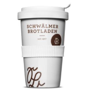Mehrweg im Cafe, z.B. der Coffee2Go Becher vom Schwälmer Brotladen