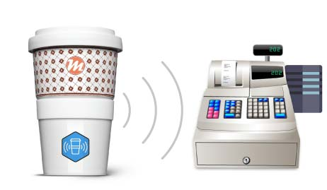 Coffee2Go per RFID am Kassensystem