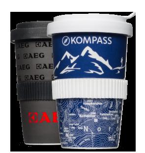 Kaffee to Go Becher mit Transferdruck hier bestellen