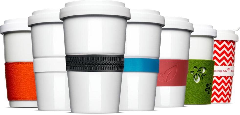 Banderolen, der Hitzeschutz für unsere Coffee2Go Becher