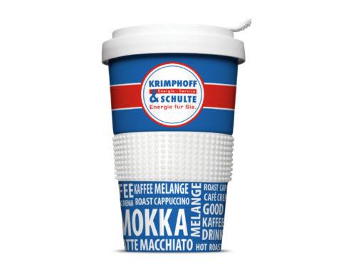 Original Coffee-to-go Mehrwegbecher für Krimphoff & Schulte