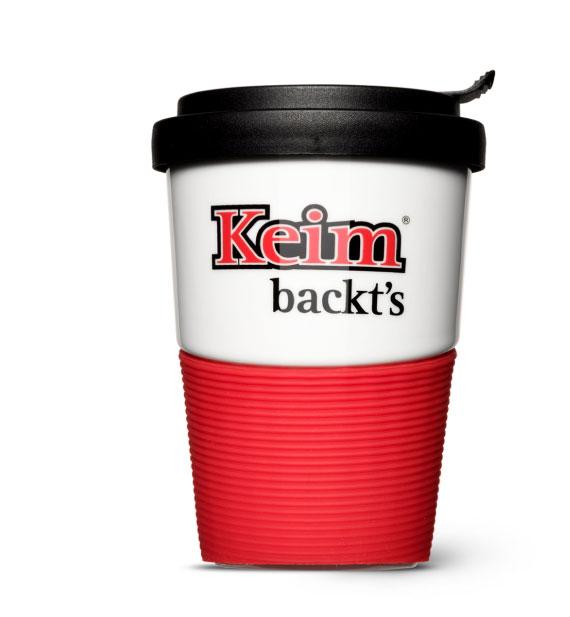 Der Kaffee-Becher to-go für die Keim Bäckerei